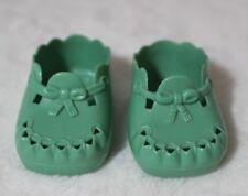 American Girl Bitty Baby Green Scallop Gardening Shoes Vinyl Sandals Retired