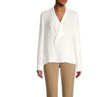 Lafayette 148 New York Carita Silk V-Neck Blouse MSRP $498 Size XS # 5A 1249 NEW