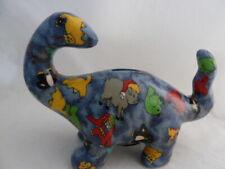 "Dinosaur Brontosaurus Coin Bank blue 5.75"" X 8.5"": assorted animals design art"