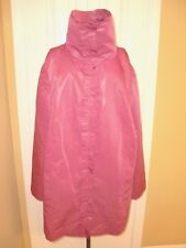NWT $169.00~SHARON YOUNG~Raspberry Full Zip Pockets Trendsetter Jacket size L.
