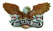 Biker Belt Buckle Eagle Skull Bad To The Bone Authentic Great American Products
