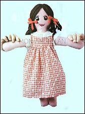 Fieltro Muñeca de trapo y Vestido * 36 Cm de Altura * Blanda Juguete Dolly Vintage patrón de Costura Artesanía