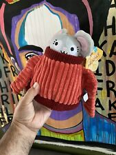 NEW BARKBOX Bark Box M/l Dog Toy Sweater Weather Heather Mouse chew Crinkle