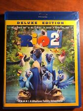 Rio 2  3D Blu-ray + Blu-ray + DVD + digital HD NEW Free Ship