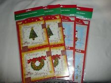 3 PACKS CHRISTMAS CARD HOLDERS.3 SHEETS PER PACK WHOLESALE CLEARANCE.99P START