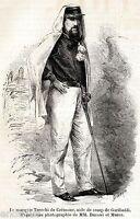 Marchese Gaspare Trecchi di Cremona. Spedizione dei Mille. + Passepartout. 1860