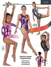 Jalie Gymnastics Tank Leotard and Biketard Exercise Costume Sewing Pattern 3138