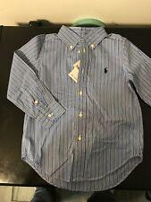 Polo Boys Button Down Striped Shirt Size 4 NWT
