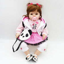 "20"" Reborn Dolls Newborn Baby Girl Toddler Cute Silicone Soft Cloth Body Bebe"