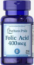 Puritan's Pride Folic Acid 400 mcg - 250 Tablets