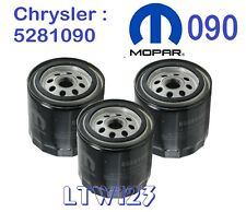 (3) Chrys, Plymouth, Dodge, Jeep OEM OIL FILTER  5281090 MO-090, PH16