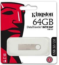 Kingston 64GB DataTraveler SE9 G2 3.0 64G USB 3.0 Pen Drive DTSE9G2/64GB *Retail