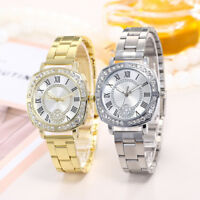 NEW Ladies Women Crystal Dial Quartz Analog Stainless Steel Bracelet Wrist Watch