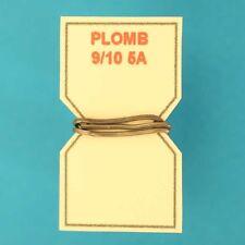 10 cm DE FIL DE PLOMB FUSIBLE 9/10° 5A POUR PORTE-FUSIBLE PORCELAINE VINTAGE