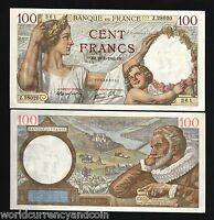 FRANCE 100 FRANCS P-94 1942 SULLY LARGE UNC RARE CURRENCY MONEY BILL BANK NOTE