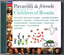 PAVAROTTI & FRIENDS for Children of Bosnia Dolores O'Riordan Meat Loaf Bono CD