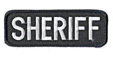Écusson patche Sheriff patch thermocollant collector