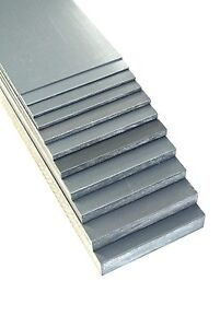 Grey PVC Flat Engineering Plastic Sheet 1.5mm - 20mm Thick In Various Lengths