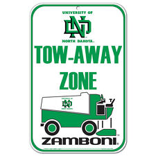 "University of North Dakota Zamboni Plastic Sign 11"" x 17"""