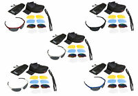 CHEX Ace Cricket Sports Sunglasses 5 Interchangeable Lenses Inc Tinted Case