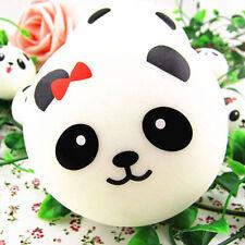 4pcs Jumbo Panda Squishy Soft Buns Cell Phone Key Chain Bread Straps Cute Gift