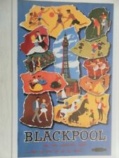 POSTCARD BLACKPOOL AND THE PLEASURE'S YOURS BUT BE SURE TO GO BY TRAIN