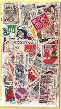 TCHECOSLOVAQUIE  Pochette 50 timbres TOUS DIFFERENTS bon etat K50/2