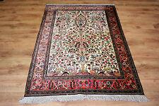 Feiner Perser Teppich Persien Seide auf Seide Gh-om 162 x 109 Neuwertig TOP