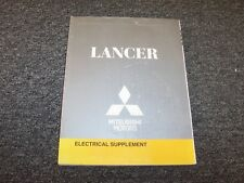 2008 Mitsubishi Lancer Sedan Electrical Wiring Manual Supplement DE ES GTS 2.0L
