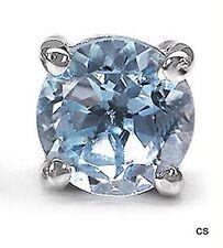 Herren-Ohrring Blautopas-0,60 Karat-Silber-Rhodiniert