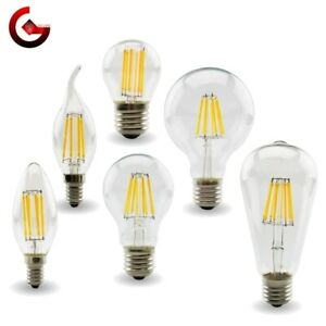 E27 Retro Edison ​LED Filament Glass Bulb Lamp Vintage Candle Light G45 < G125