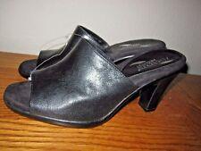 Aerosoles Heelrest BRILLIANCE Black Leather slides peep toes size 9 M / NWOB