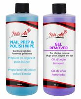 Nail Gel Polish Prep & Wipe + Gel Remover, Superior Salon Quality UV LED