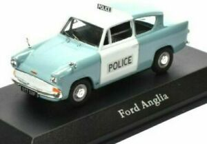 ATLAS 1/43 BRITISH POLICE CARS FORD ANGLIA PANDA CAR METROPOLITAN POLICE LONDON