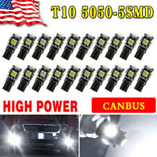 20x Pure White Canbus Error Free T10 SMD LED Interior License Light Bulb W5W 194