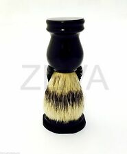 Brand New Men's Barber Bristle Shaving Brush with Stand/Holder Black USA SALE