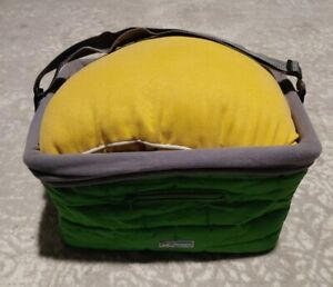 """Kurgo Green Washable Dog / Supplies  Foldable Carrier Basket Tote 16""""x12.5""""x9"""""""