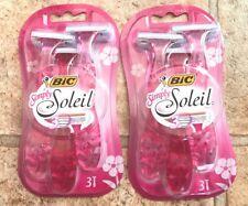 BIC * Simply Soleil Womens Razors *  6 Women's razors * Brand New