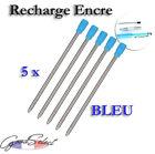 5 pcs/lot Recharge 7cm Stylo bille ENCRE BLEUE (Ref_E07)