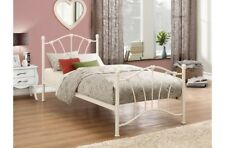 Cute Childrens Bed Frame With Beautiful Heart Castings 3ft Single In Cream