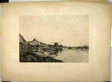 Eau forte de Edmond Charles Yon,  Chateau-Gaillard