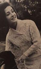 "FL19 - Vintage Knitting Pattern -  Lady's Aran Jumper - Sizes 34-38"" chest"