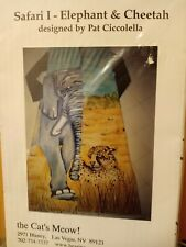 Safari I - Elephant & Cheetah designed by Pat Ciccolella  (Quilted Tunic)