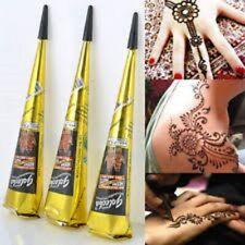 Golecha Black Halal Henna Cones Temporary Tattoo Body Art Ink 3 pcs