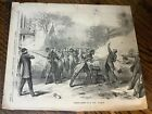 Antique 1861 Civil War Newspaper Page Illustration Terrible Tragedy At St. Louis