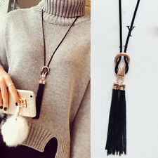 Party Women Fashion Tassel Pendant Long Sweater Chain Necklace Jewelry Noted