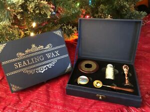 Premium Wax Seal Gift Set, Complete Wax Seal Stamp Kit with Dried Flower Petals
