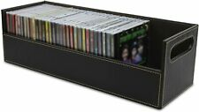 Stock Your Home CD Storage Box with Powerful Magnetic Opening -Holds 40 CD Cases