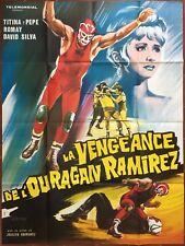 Affiche LA VENGEANCE DE L'OURAGAN RAMIREZ Joselito Rodriguez CATCH 120x160cm