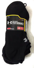 UNDER ARMOUR Men's 6 Pair No Show Performance Heatgear Socks Black Size L $19.99
